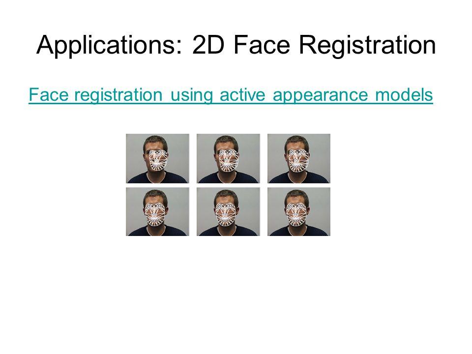 Applications: 2D Face Registration