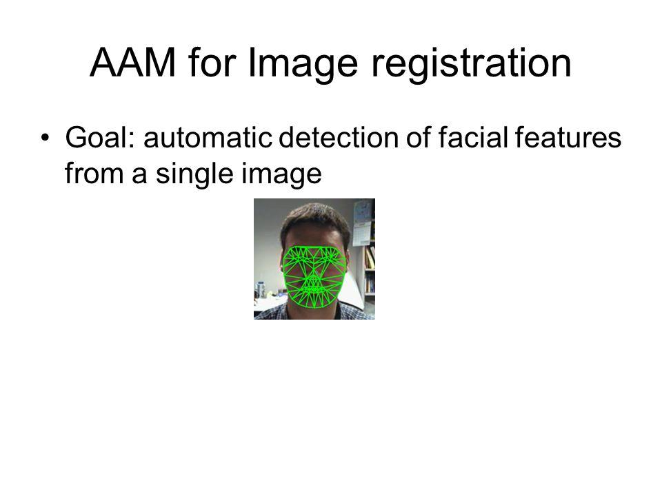 AAM for Image registration