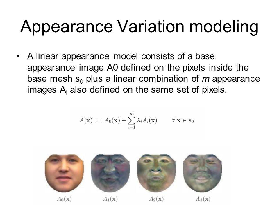 Appearance Variation modeling