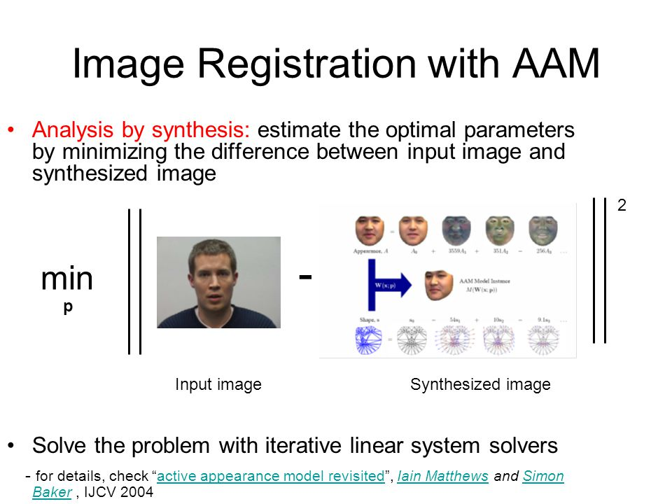 Image Registration with AAM