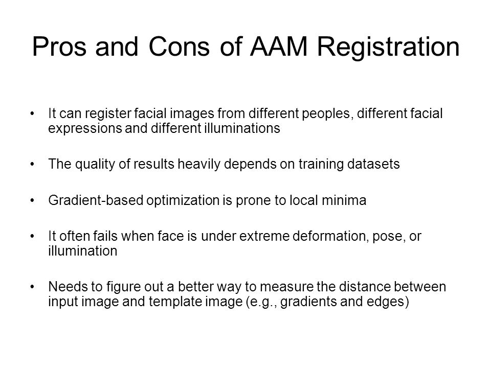 Pros and Cons of AAM Registration