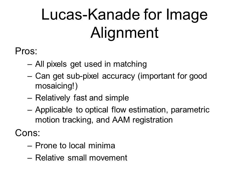 Lucas-Kanade for Image Alignment