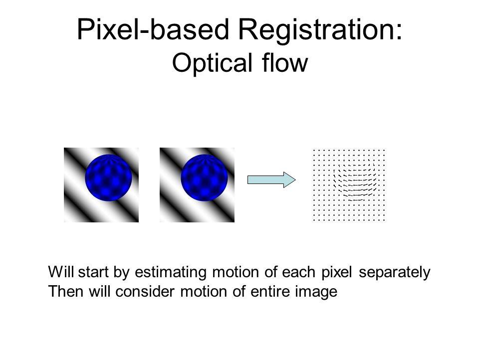 Pixel-based Registration: Optical flow