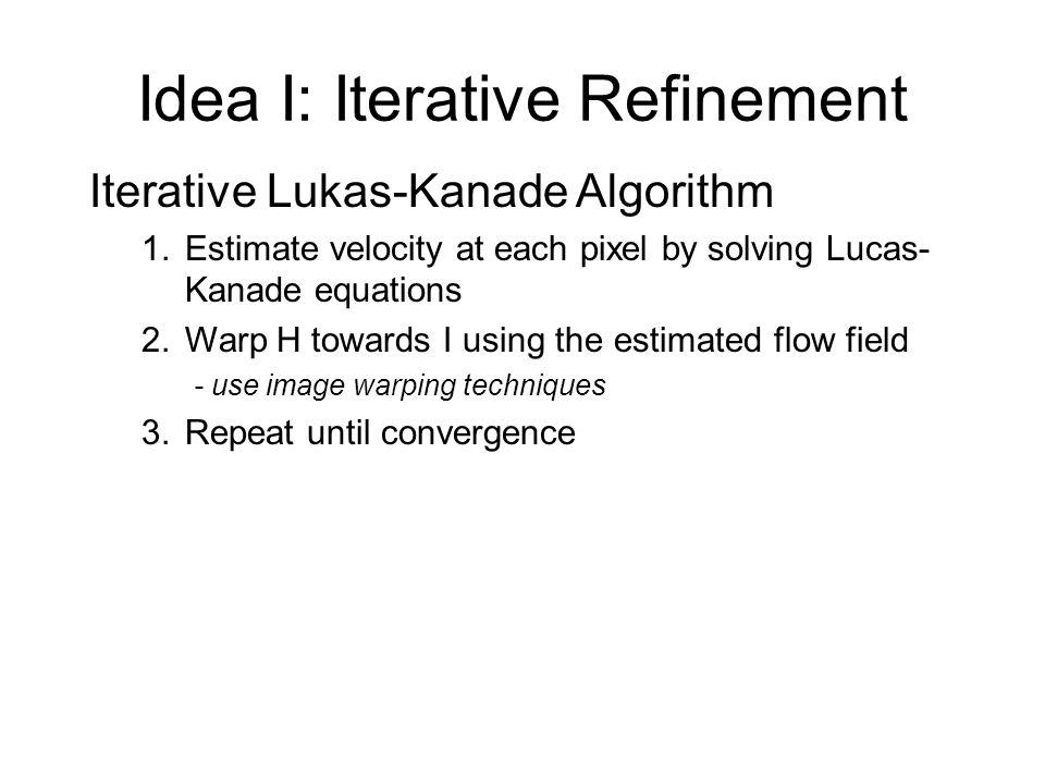 Idea I: Iterative Refinement