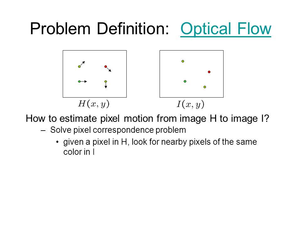Problem Definition: Optical Flow