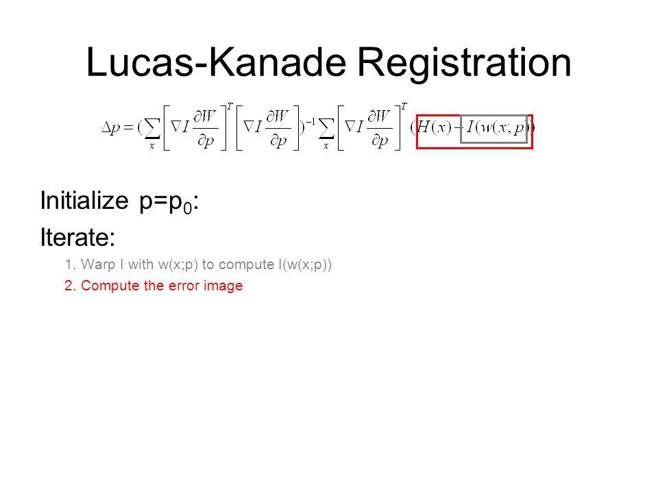 Lucas-Kanade Registration
