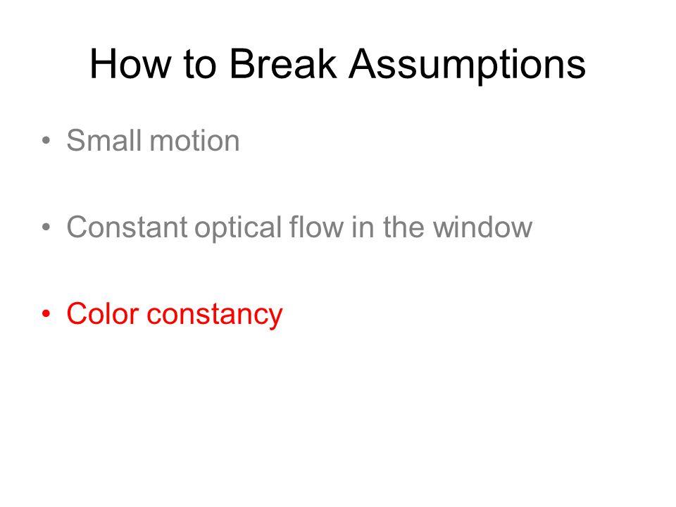 How to Break Assumptions