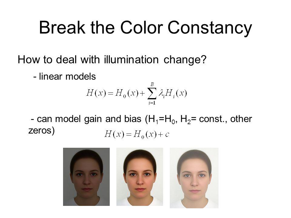 Break the Color Constancy