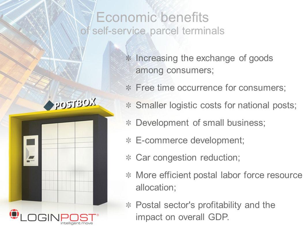Economic benefits of self-service parcel terminals