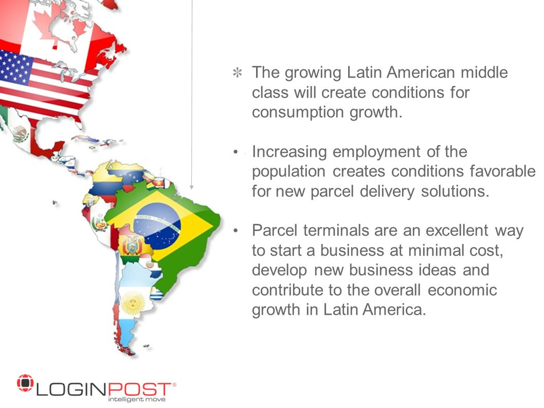 The growing Latin American middle class will create conditions for consumption growth.