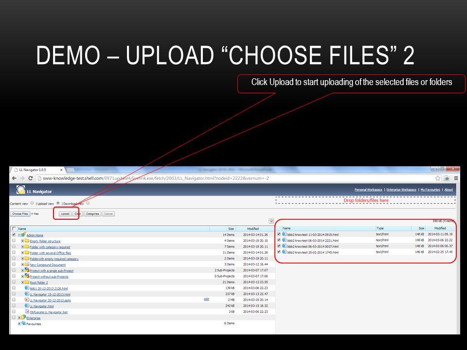 Demo – Upload choose files 2