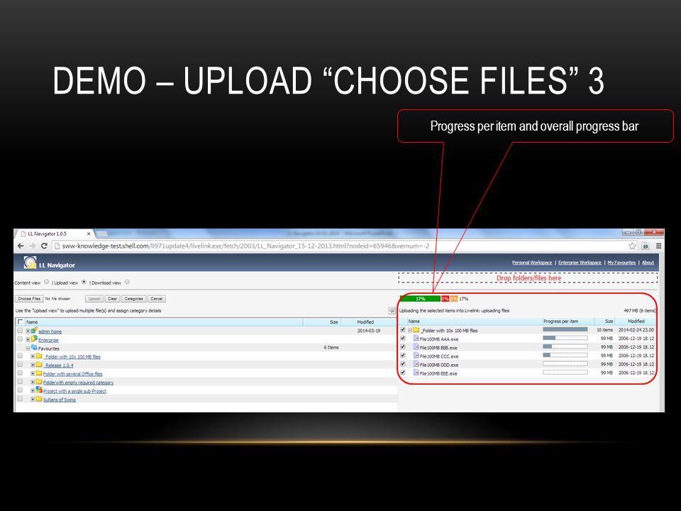 Demo – Upload choose files 3