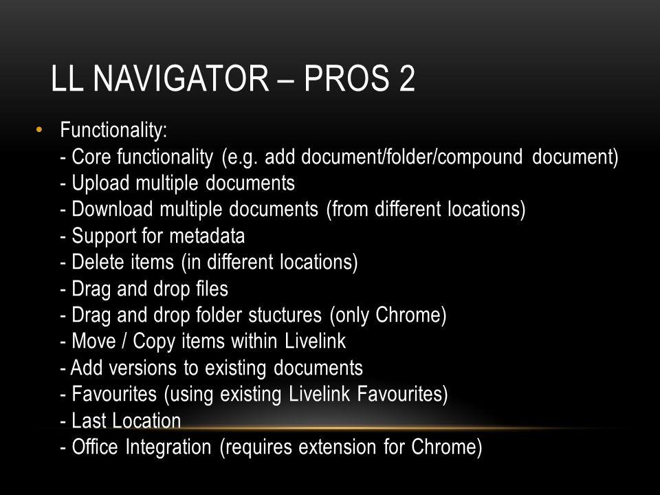 LL Navigator – pros 2
