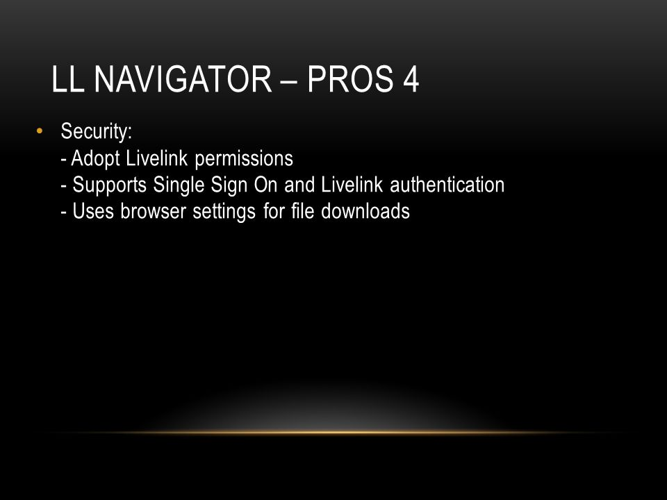 LL Navigator – pros 4