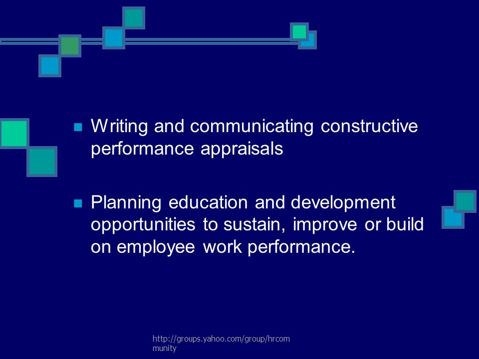 Writing and communicating constructive performance appraisals