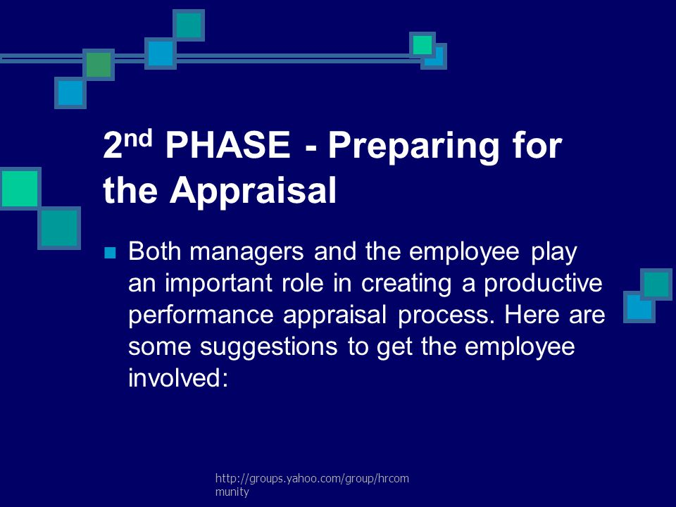 2nd PHASE - Preparing for the Appraisal