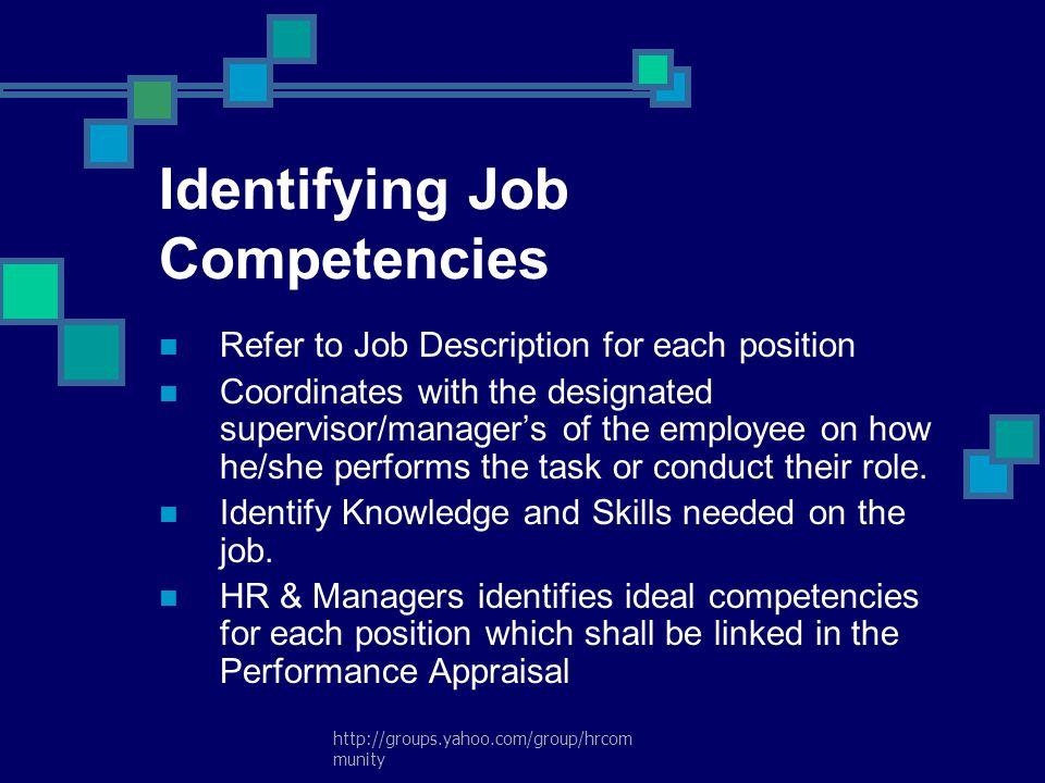 Identifying Job Competencies