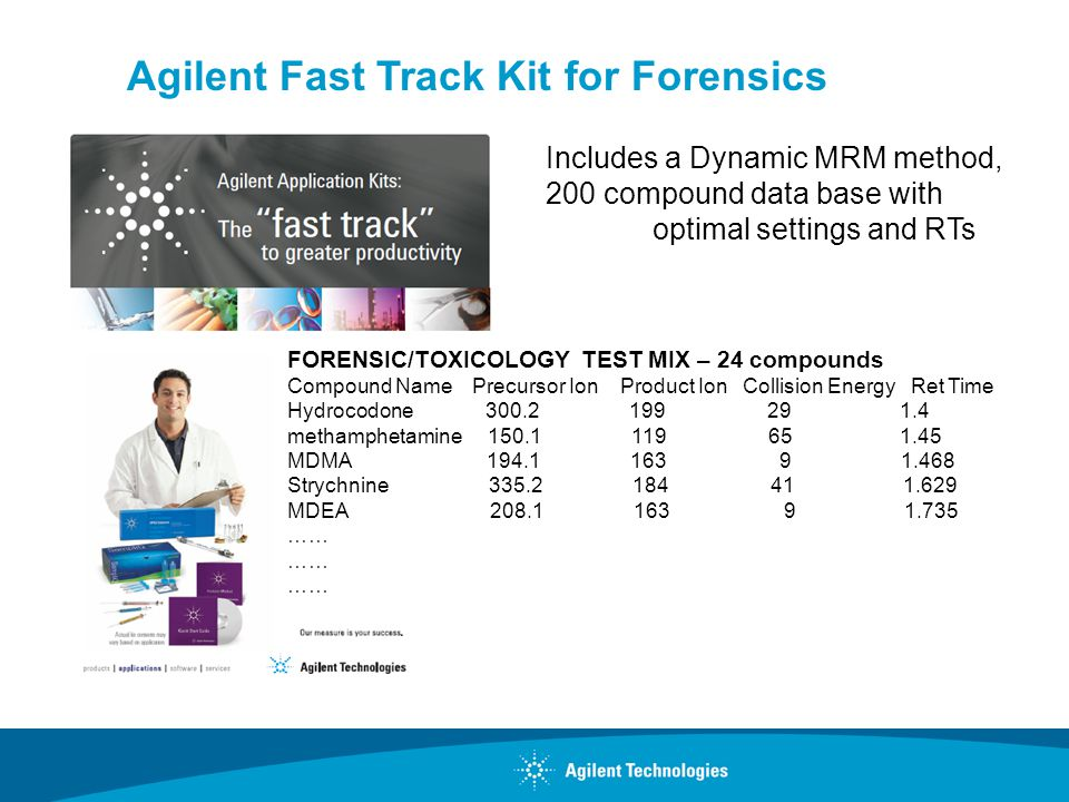 Agilent Fast Track Kit for Forensics