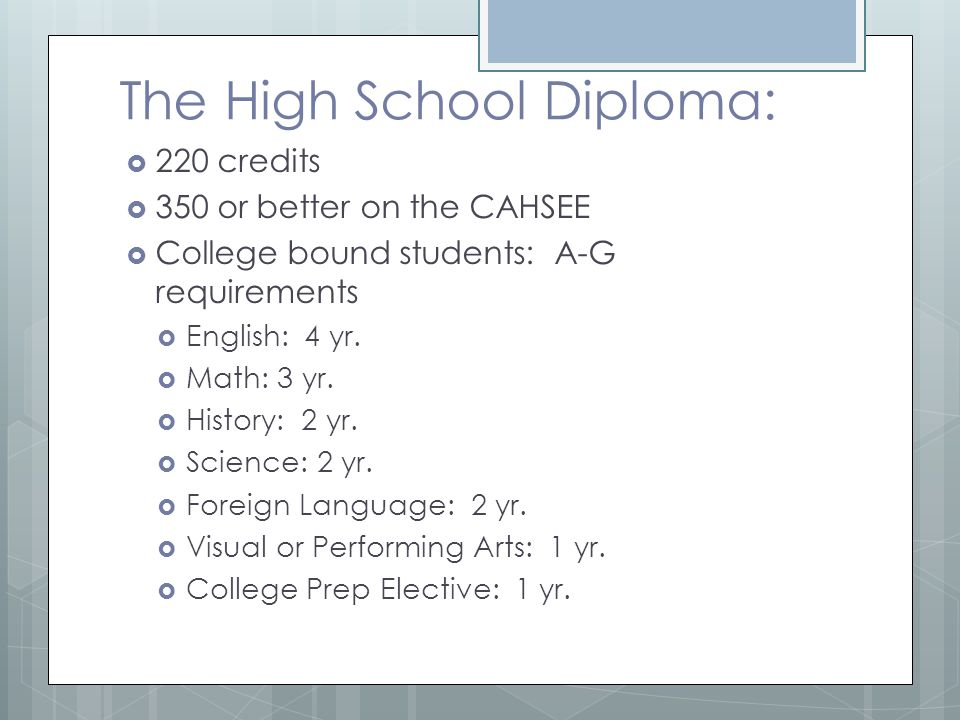 The High School Diploma: