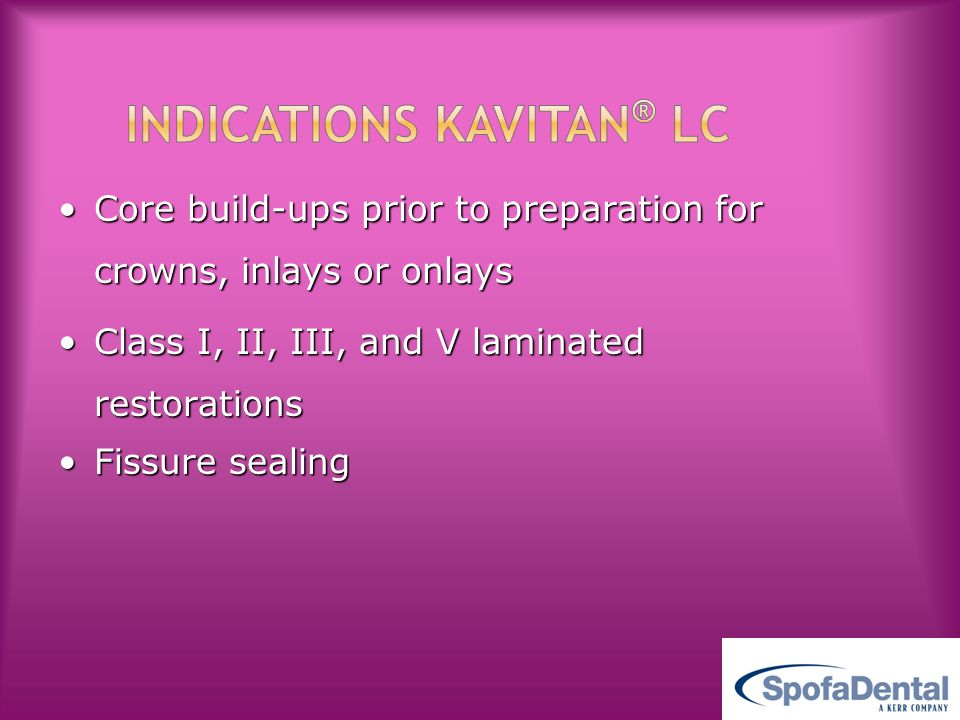 Indications KAVITAN® LC