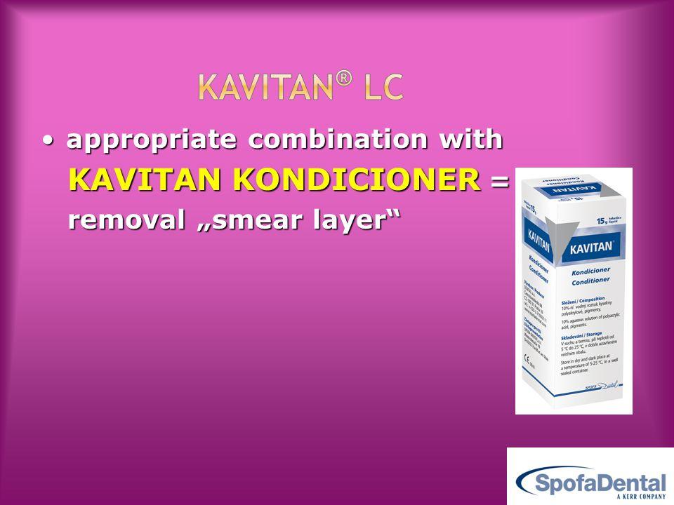 KAVITAN® LC appropriate combination with KAVITAN KONDICIONER =