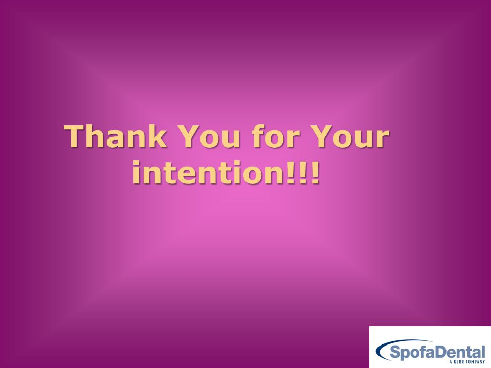 Thank You for Your intention!!!