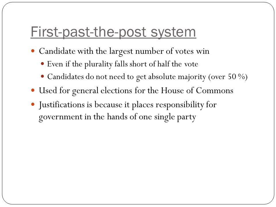 First-past-the-post system