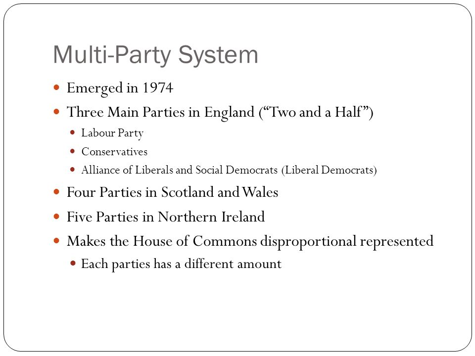 Multi-Party System Emerged in 1974