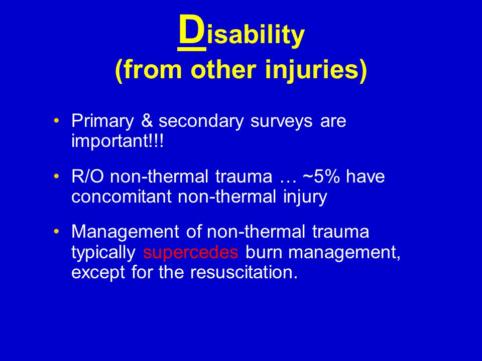 Disability (from other injuries)