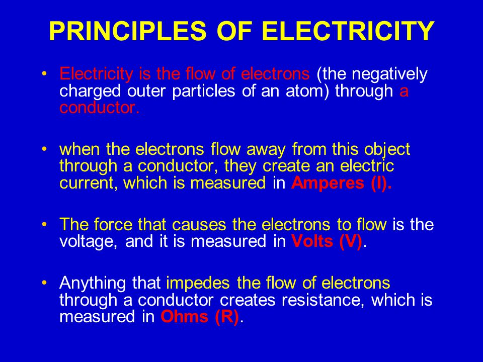 PRINCIPLES OF ELECTRICITY