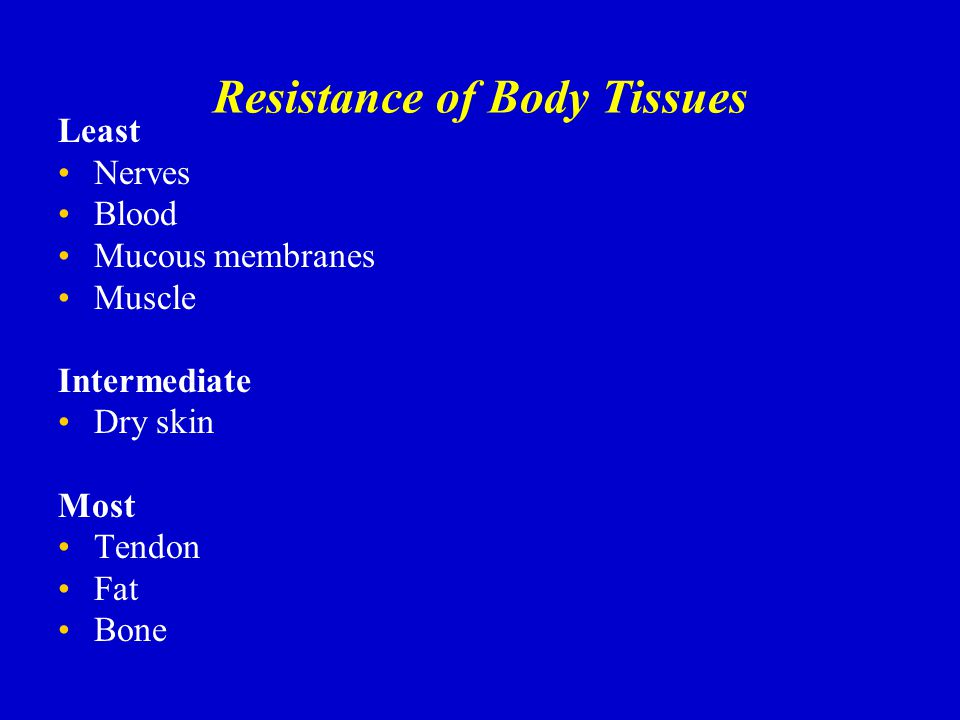 Resistance of Body Tissues