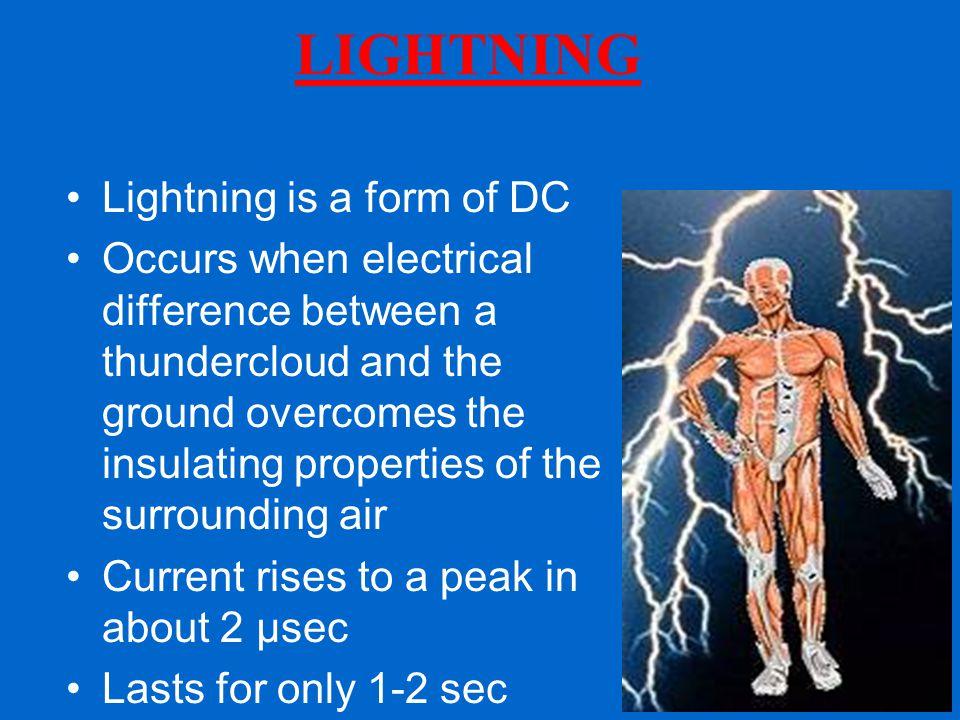 LIGHTNING Lightning is a form of DC