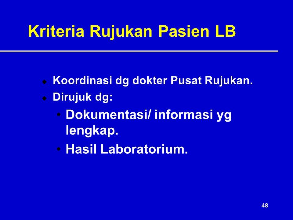 Kriteria Rujukan Pasien LB