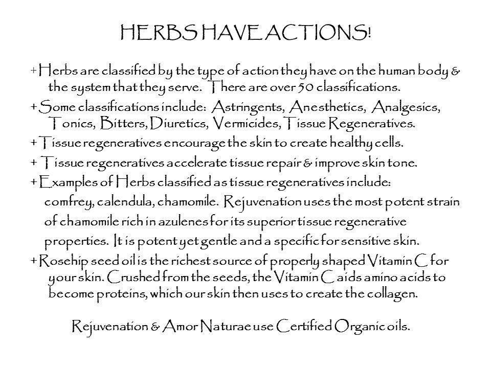 HERBS HAVE ACTIONS!