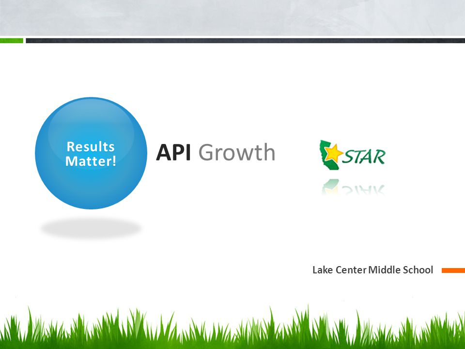 Results Matter! API Growth Lake Center Middle School