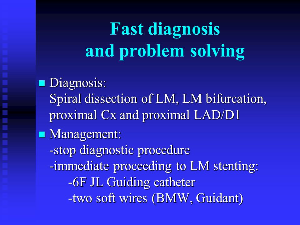 Fast diagnosis and problem solving