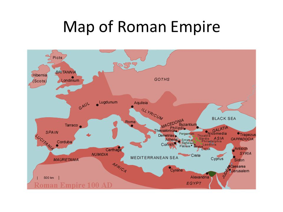 Map of Roman Empire
