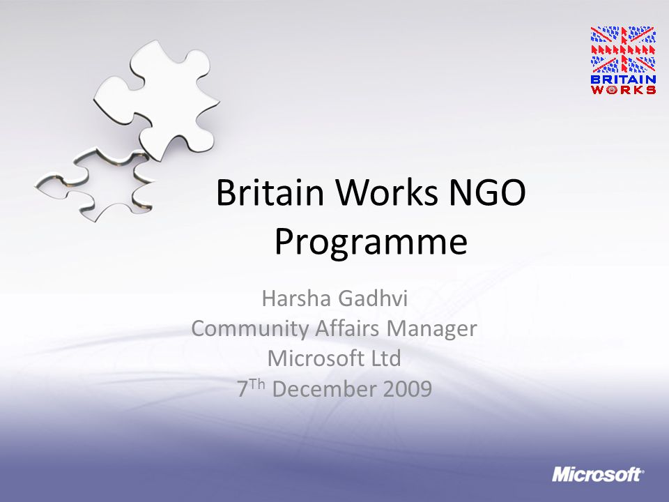 Britain Works NGO Programme