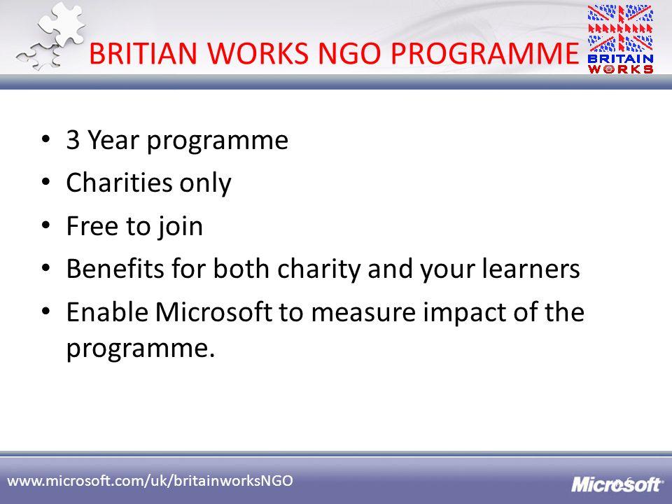 BRITIAN WORKS NGO PROGRAMME