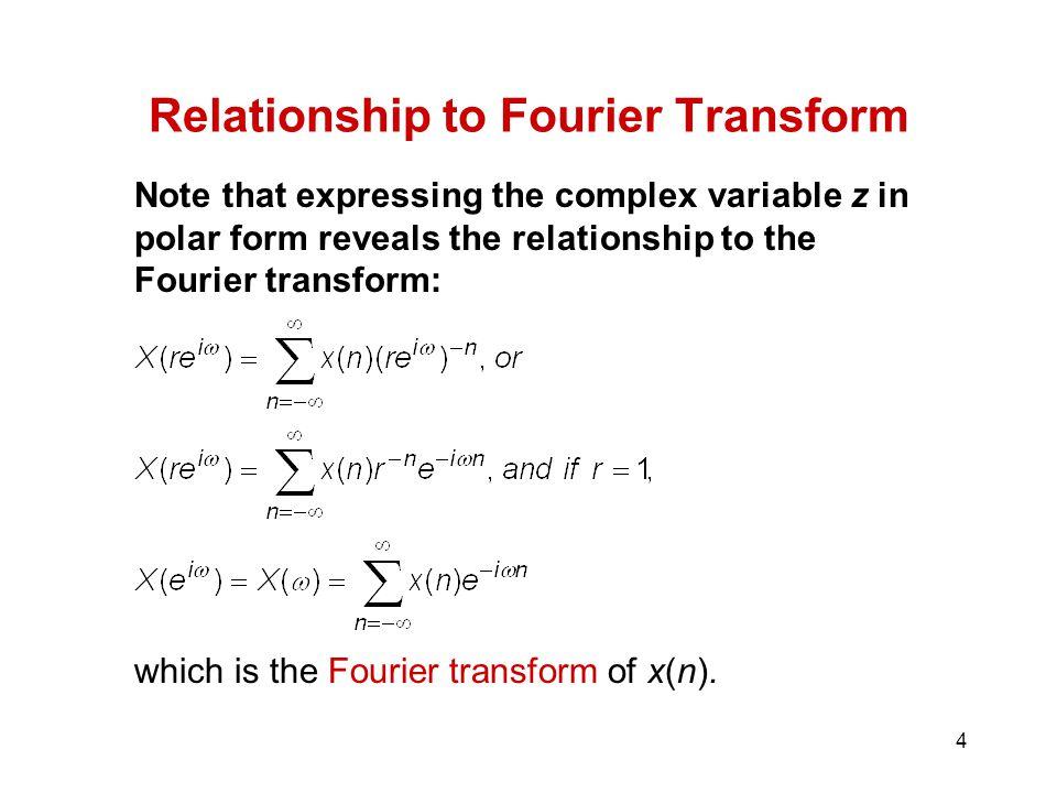 Relationship to Fourier Transform