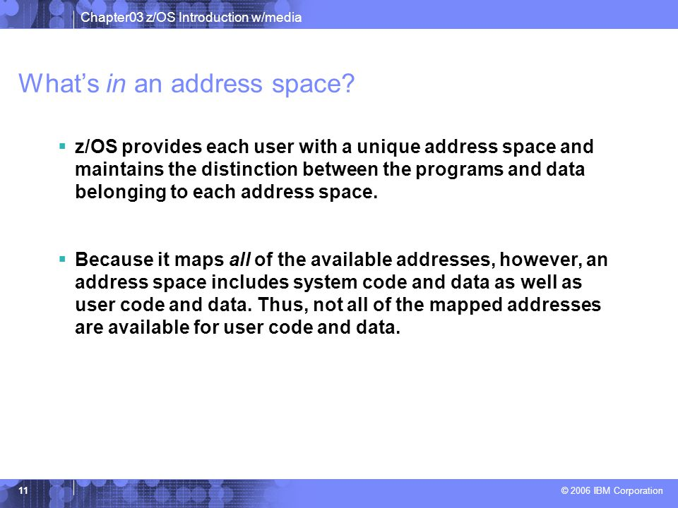 What's in an address space