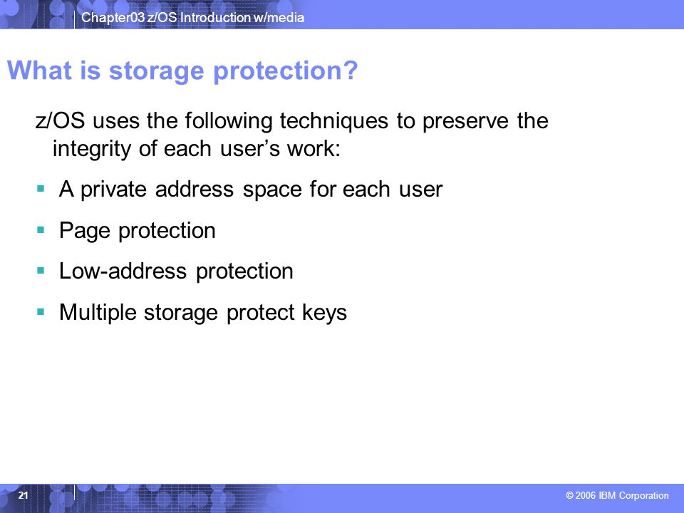 What is storage protection