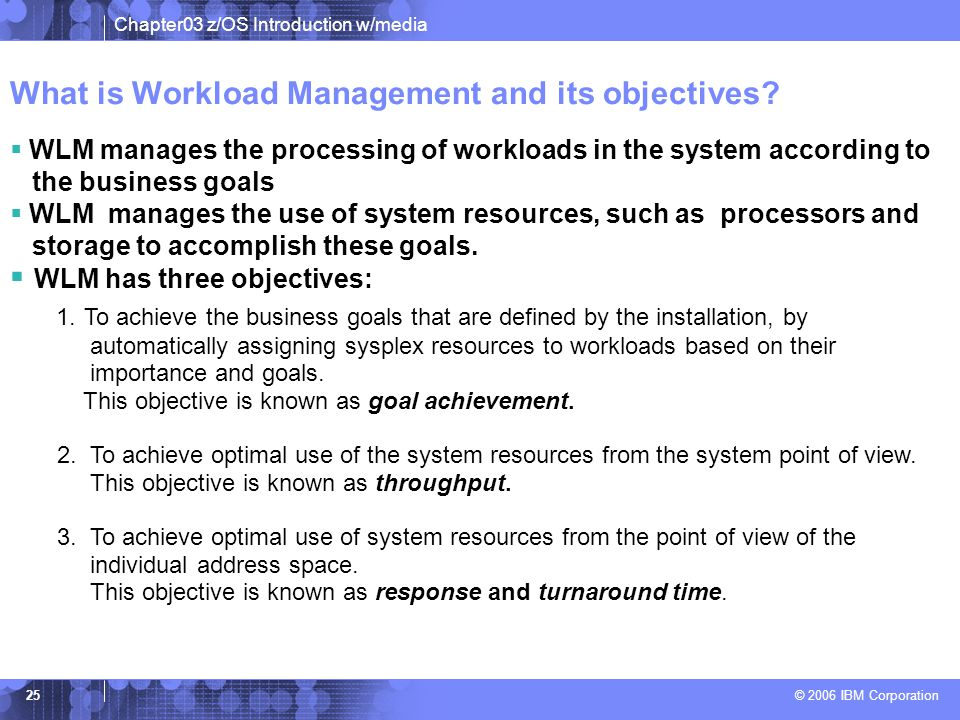 What is Workload Management and its objectives