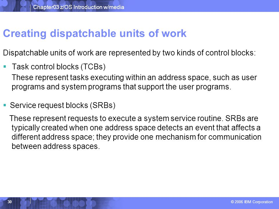 Creating dispatchable units of work
