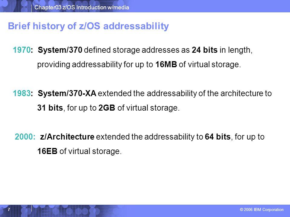 Brief history of z/OS addressability