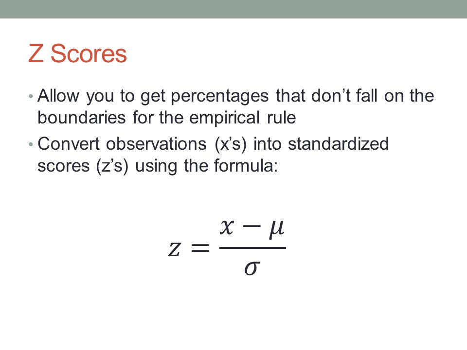 Z scores MM3D3 ppt download – Empirical Rule Worksheet