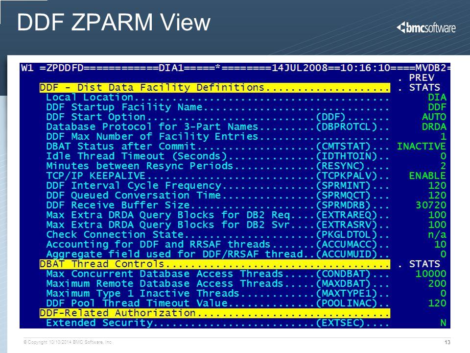 DDF ZPARM View
