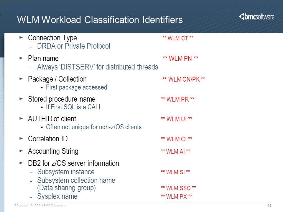 WLM Workload Classification Identifiers