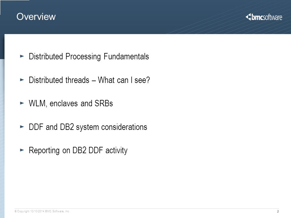 Overview Distributed Processing Fundamentals