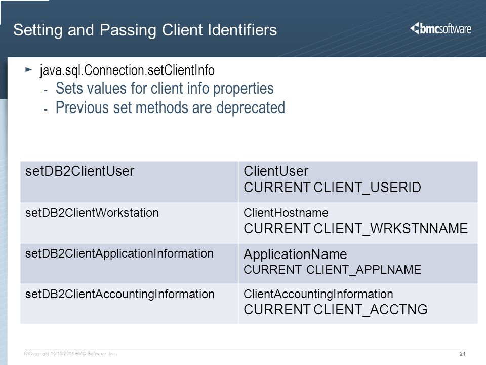 Setting and Passing Client Identifiers